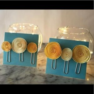 Other - Pinwheels Paper Flowers Planner Clips NEW